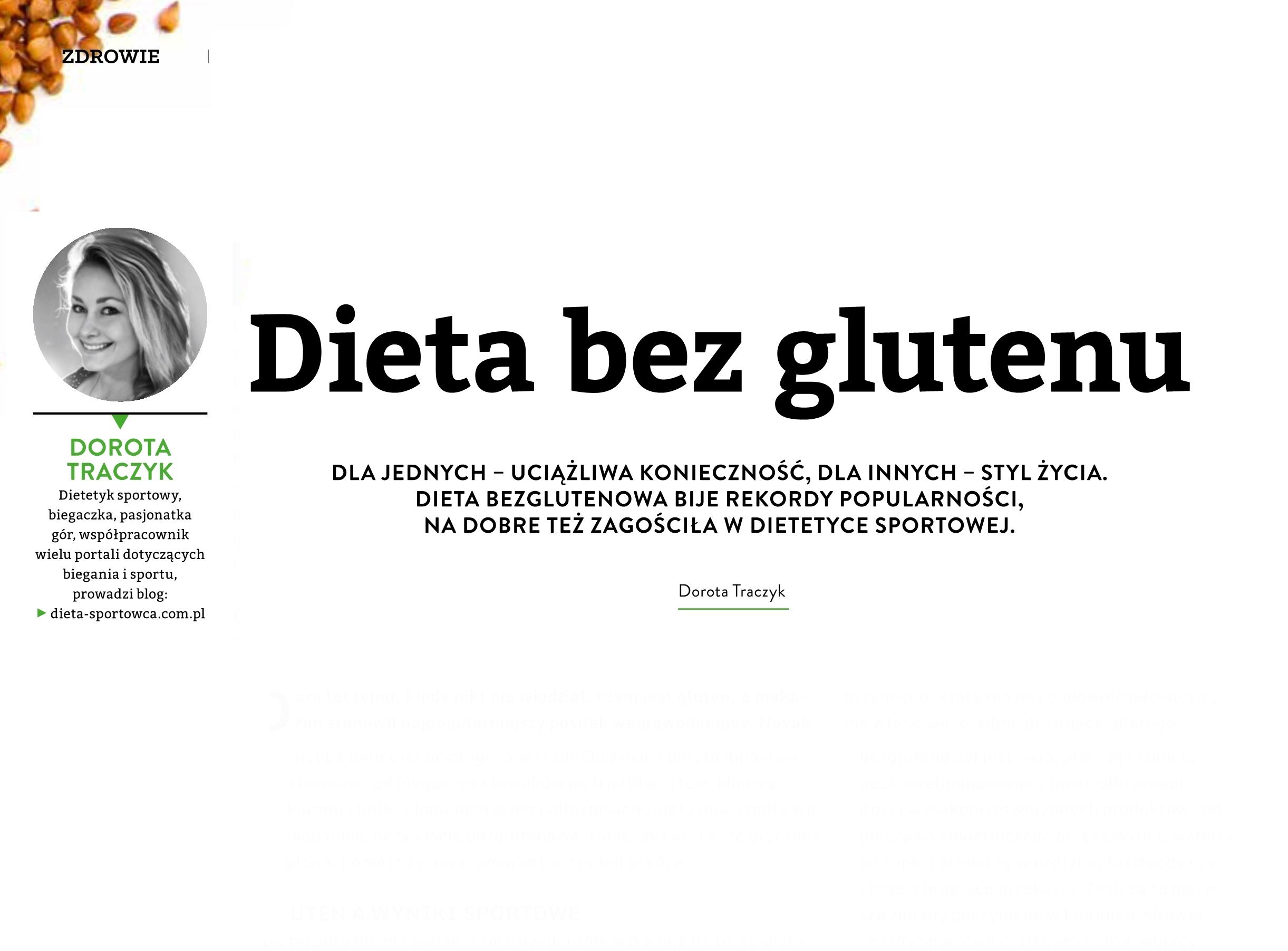 Dieta bez glutenu u sportowców