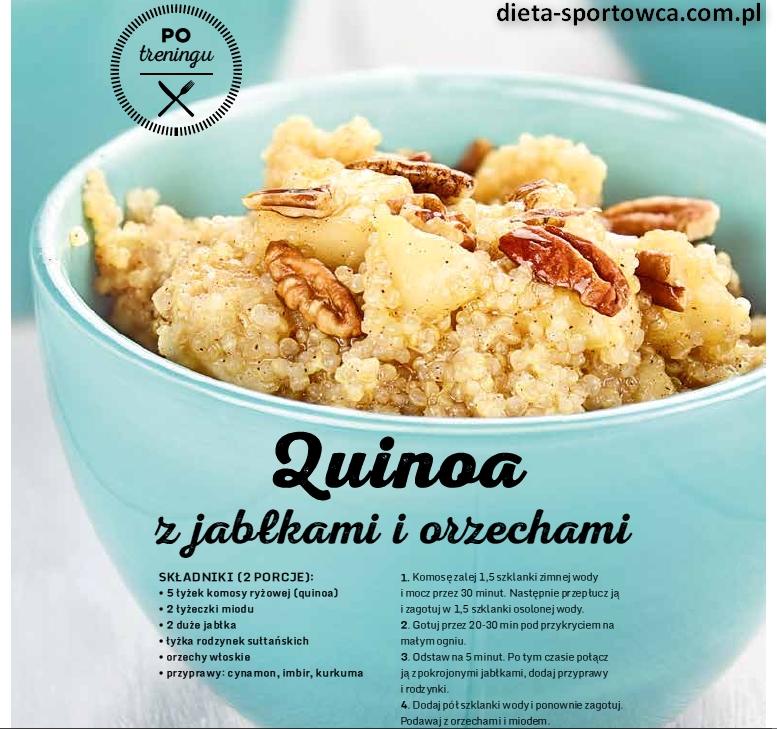 Quinoa z jabłkami i orzechami