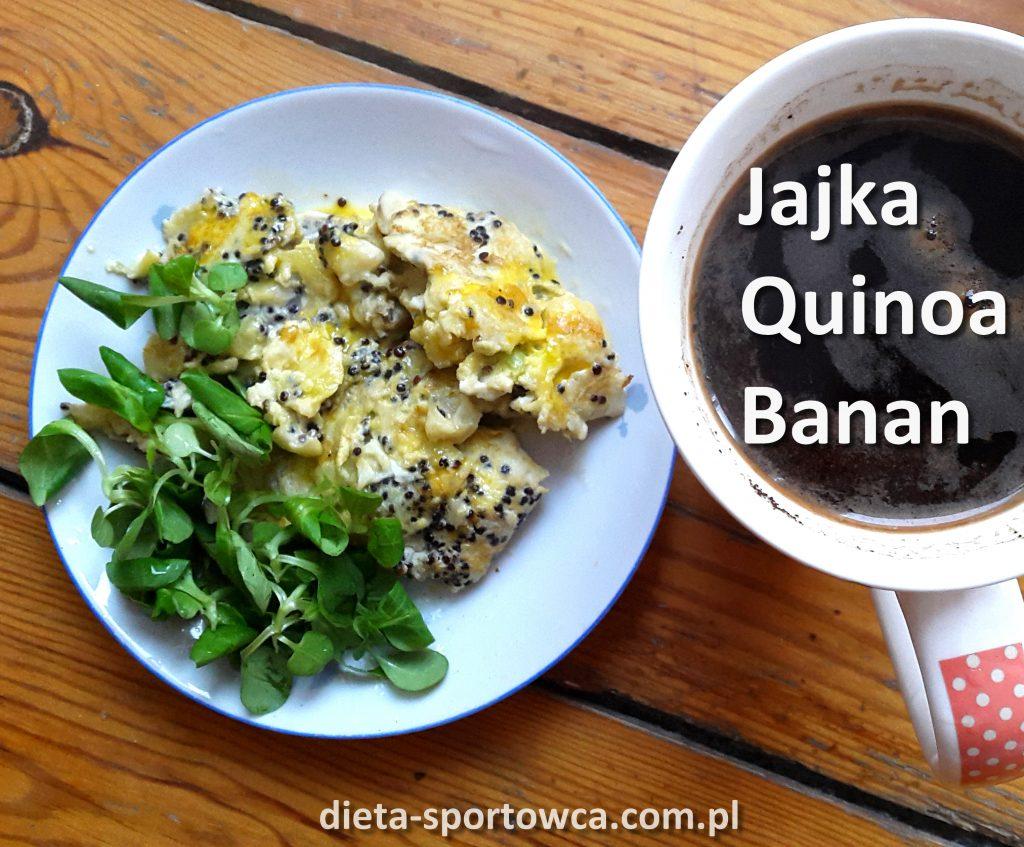 Jajecznica quinoa