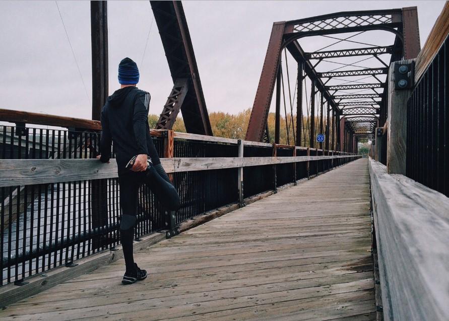 Panie biegaczu - co Pan taki spokojny? Zjadłem ryż i banana, popiłem kakałkiem
