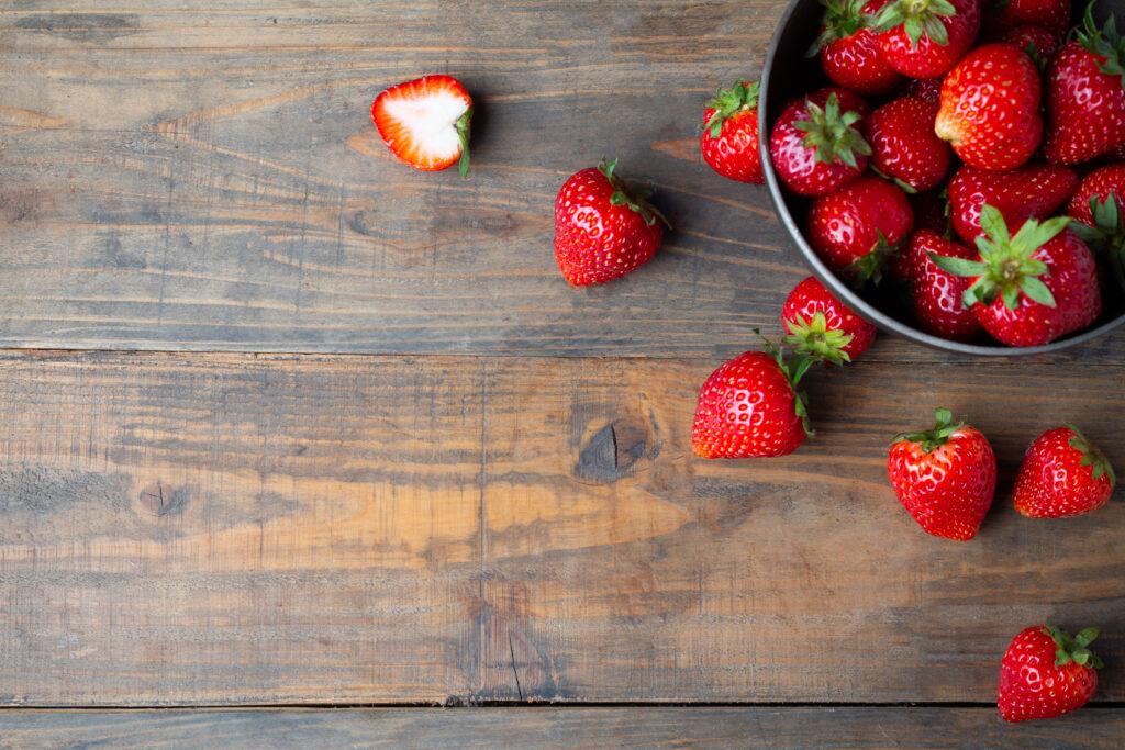 Błonnik pokarmowy w truskawkach